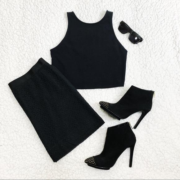 J. Crew Dresses & Skirts - J. Crew Black Lace Skirt - Size 10